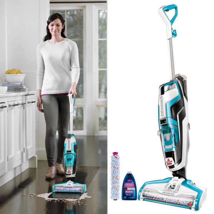 Split Spray Floor Mop: Bissel Crosswave Vacuum Wet-Dry Floor And Carpet Cleaner
