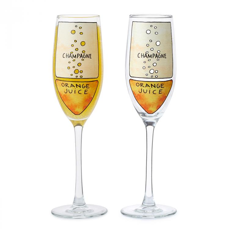 Mimosa Orange Juice Champagne Ingredients Diagram Glasses