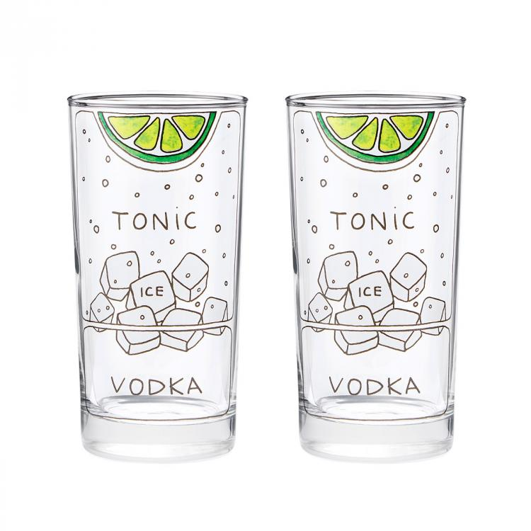 Vodka Tonic Ingredients Diagram Glasses