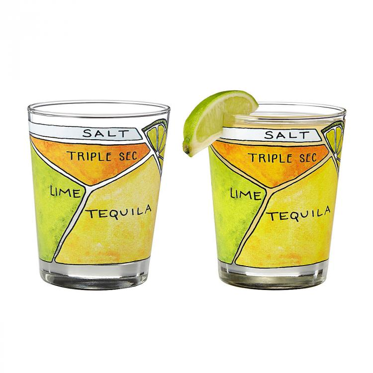 Margarita Ingredients Diagram Glasses