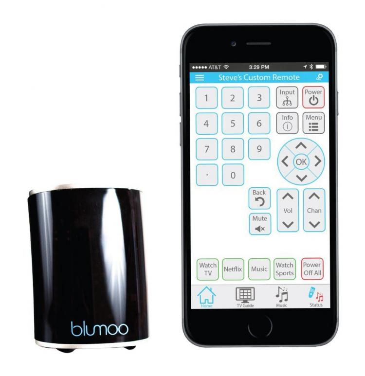 blumoo universal remote for smart phone, tablet, or smart watch