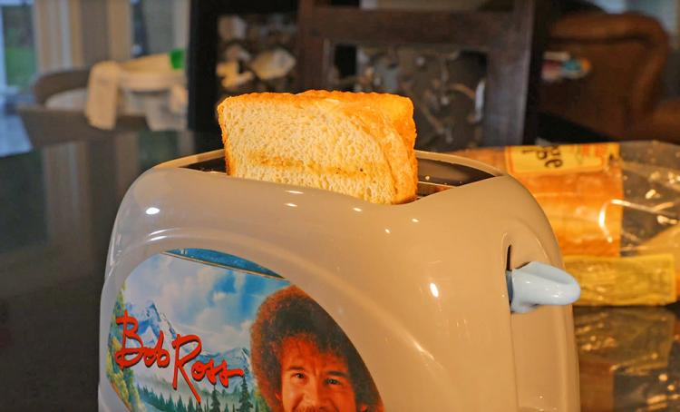 Bob Ross Toaster Toasts Bob Ross Face Onto Toast
