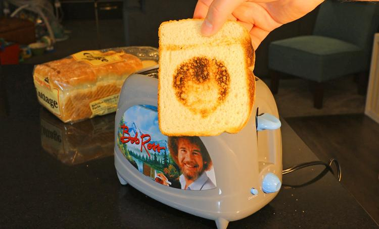 Bob Ross Toaster Toasts Bob Ross Face Onto ToastBob Ross Toaster Toasts Bob Ross Face Onto Toast