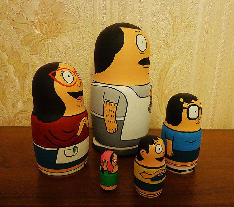 Bob S Burgers Family Nested Matryoshka Dolls