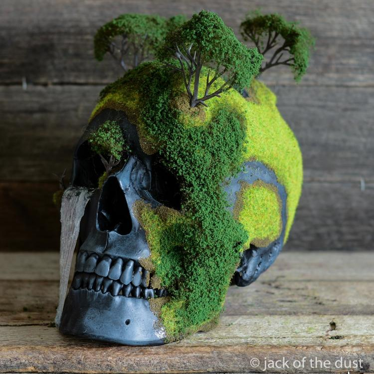Bonsai Skulls - Fake Human Skull Nature Decor Art Pieces