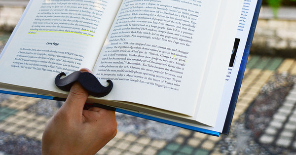 Book Mustache - Mustache book page holder