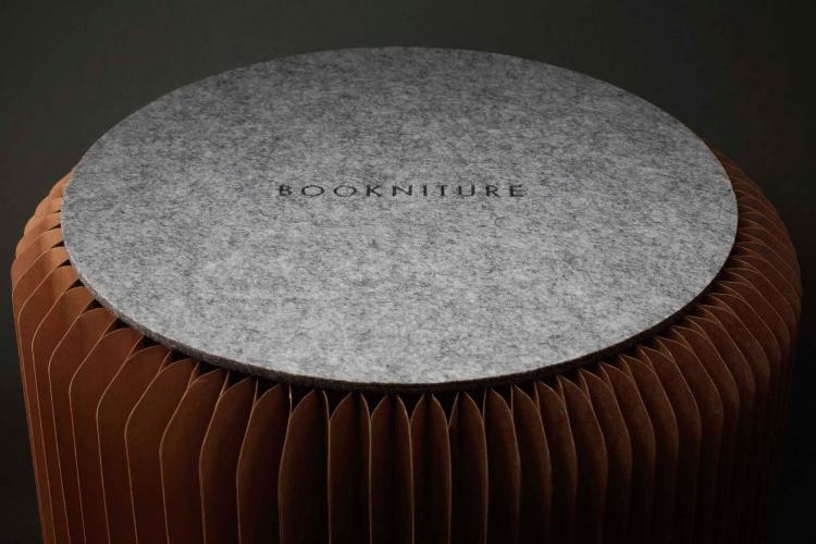 Bookniture Book Chair - Honeycomb book table and stool - Book Futniture Design
