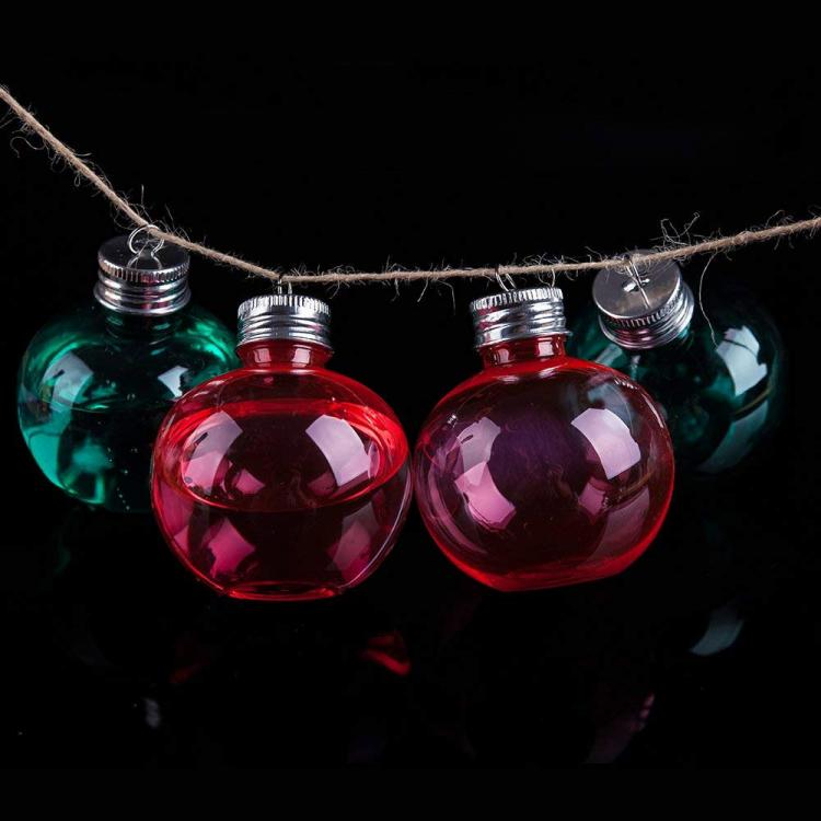 Booze Filled Christmas Tree Ornaments - Alcohol-filled Christmas Bauble ornaments