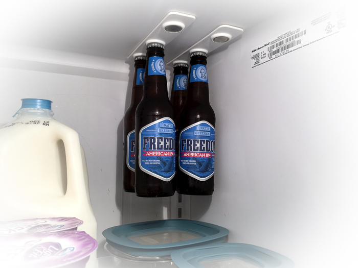 bottleloft magnetic beer bottle attachment for your fridge. Black Bedroom Furniture Sets. Home Design Ideas