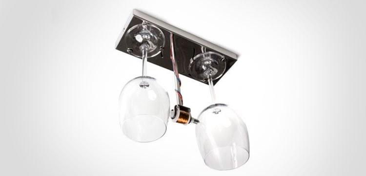 Bottoms Up Doorbell Made From Wine Glasses