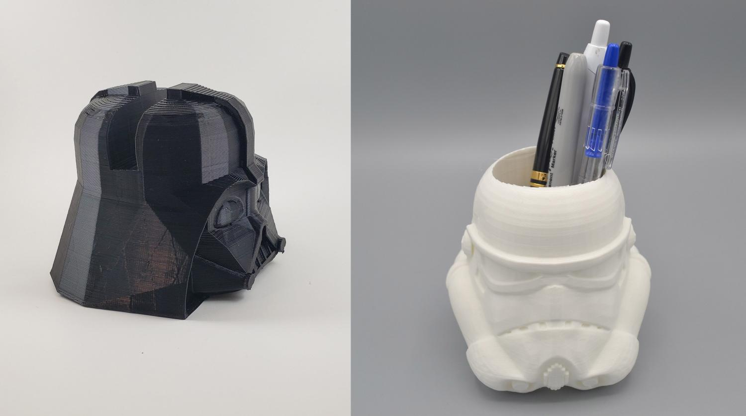 Darth Vader Helmet Smart Phone Holder - Stormtrooper helmet cup pen holder