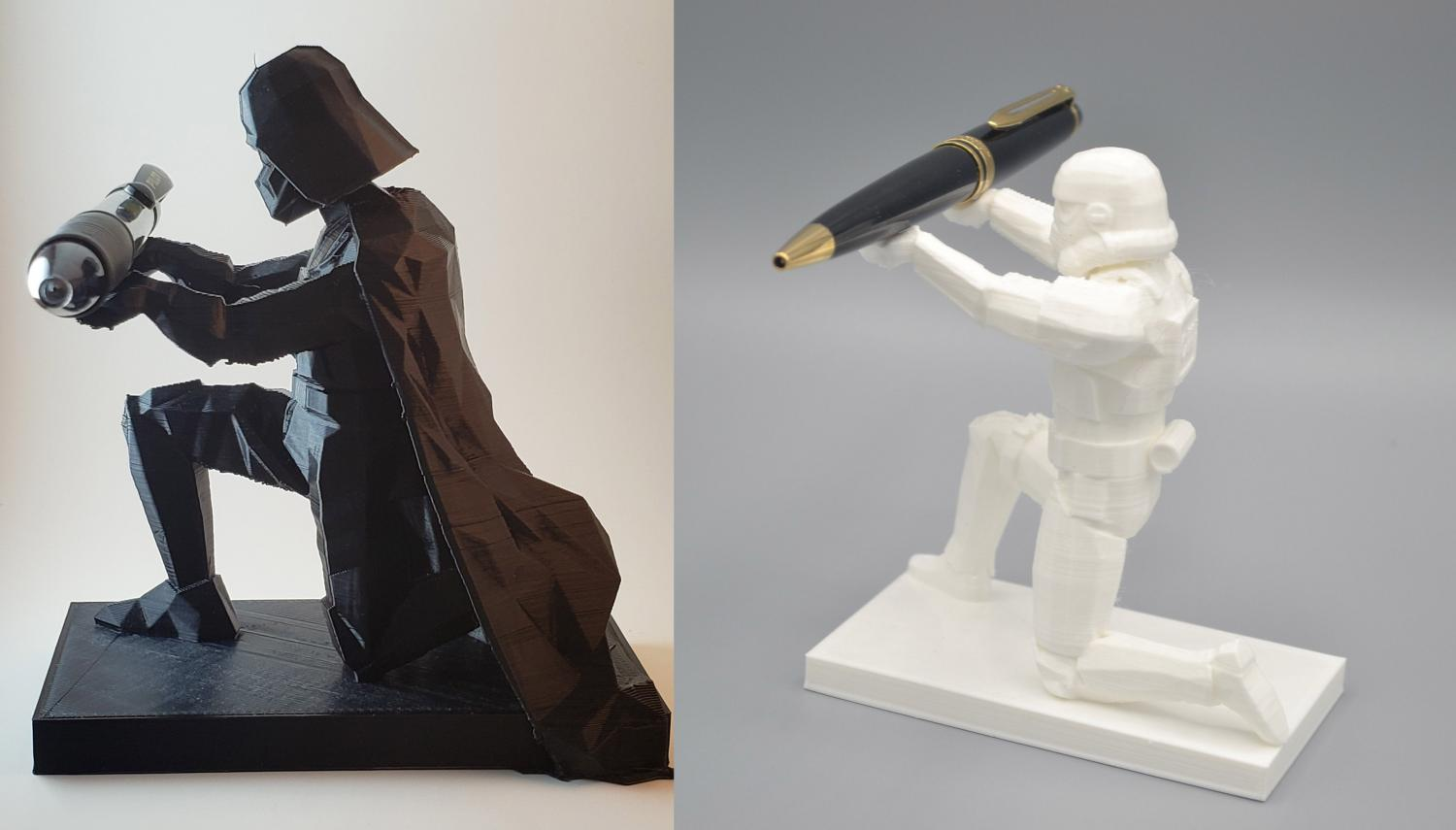 Bowing Darth Vader Pen Holder - Bowing Stormtrooper Pen Holder