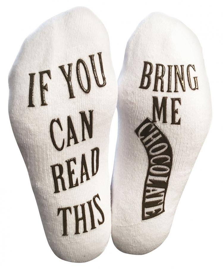 If You Can Read This, Bring Be Chocolate Socks - Bring Me Chocolate Socks - Christmas Chocolate socks