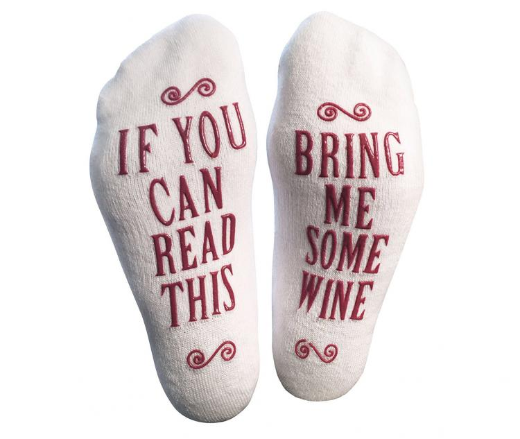 If You Can Read This, Bring Be Wine Socks - Bring Me Wine Socks - Christmas wine socks