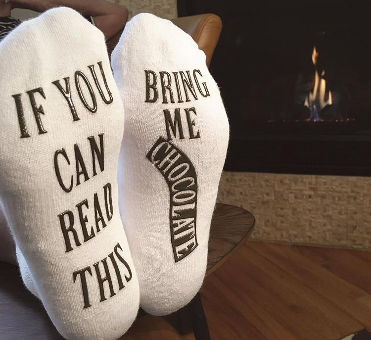 If You Can Read This Bring Me Some Wine Christmas Socks