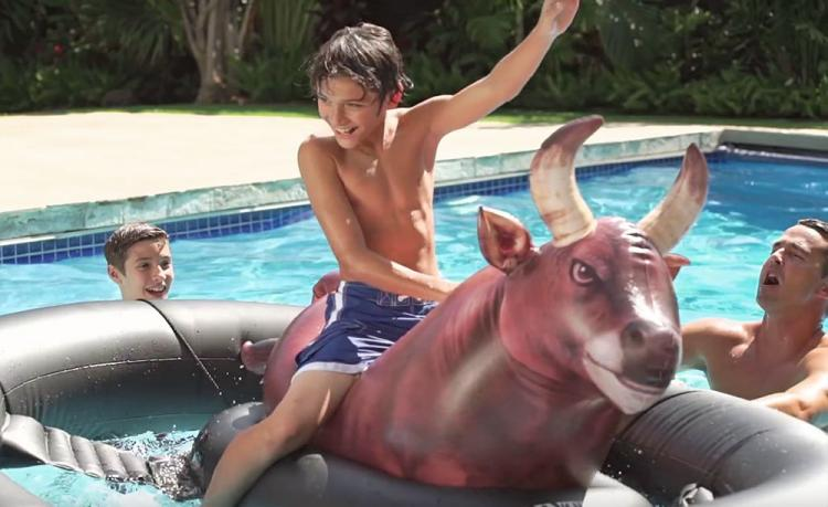 Intex InflataBULL - Inflatable bull riding pool toy - Blow-up rodeo pool/river/lake/ocean/water toy