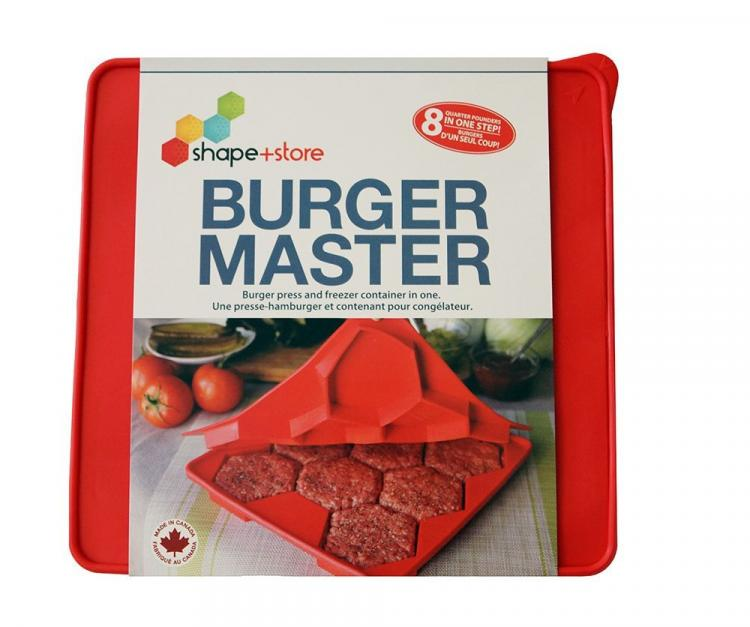 Shape and Store Master Burger Press - Burger Press Makes 8 Perfect Burger Patties at a time