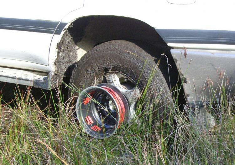 Bush Winch - Winch attaches to your tire - Gets you unstuck form snow, mud, sand - Wheel winch