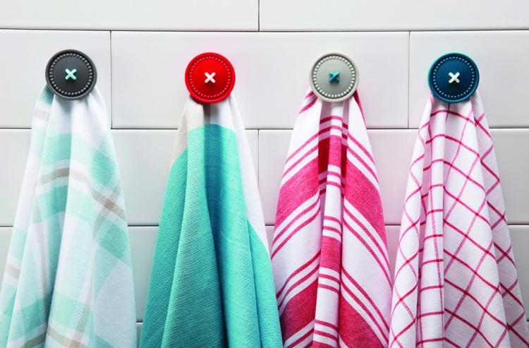 Button Up Magnetic Towel Holder Button