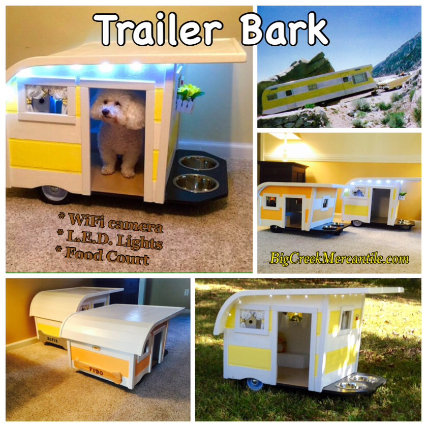 Camping Trailer Dog Beds - Canine Campers RV shaped dog beds