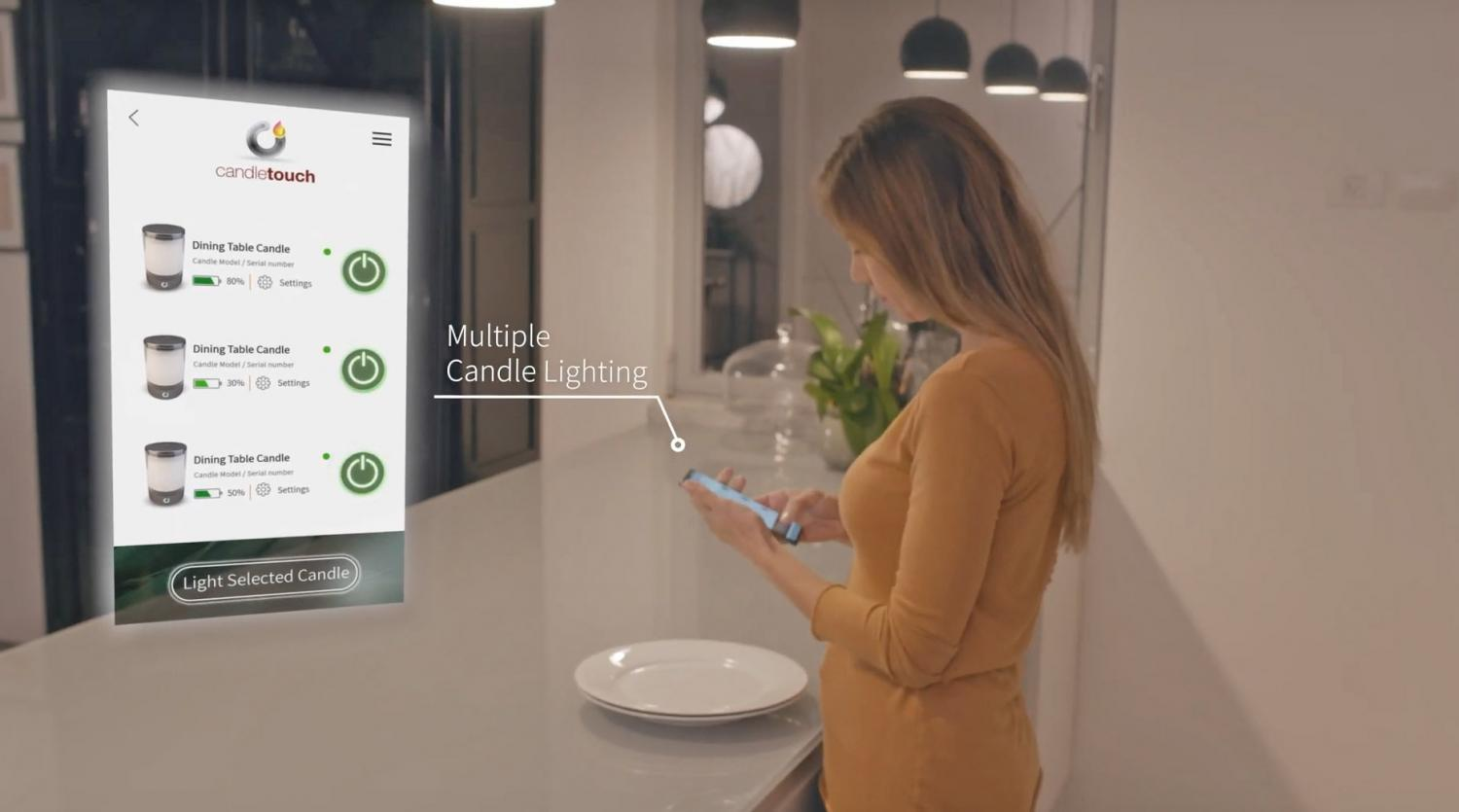 Candle Touch Smart Candle Ignites From Smart Phone - Light candle remotely from phone
