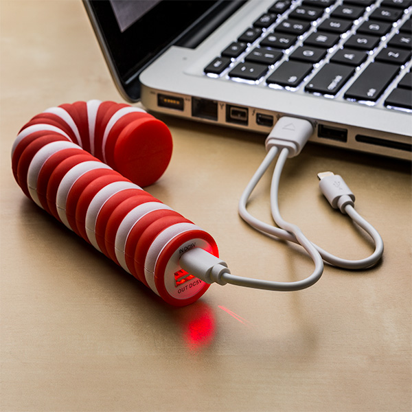 Candy Cane Phone Charging Portable Battery