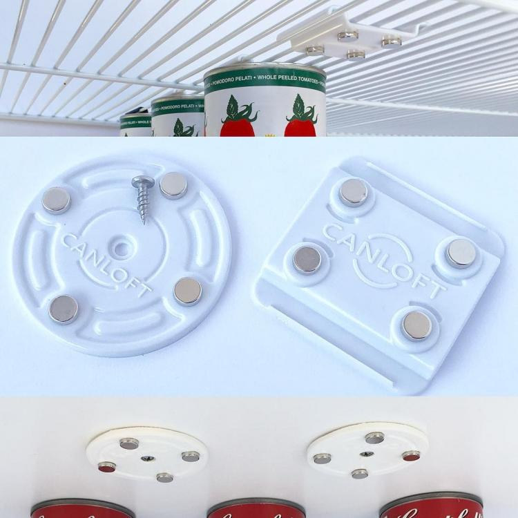 CanLoft Magnetic Canned Food Hangers Save Space In Your Pantry