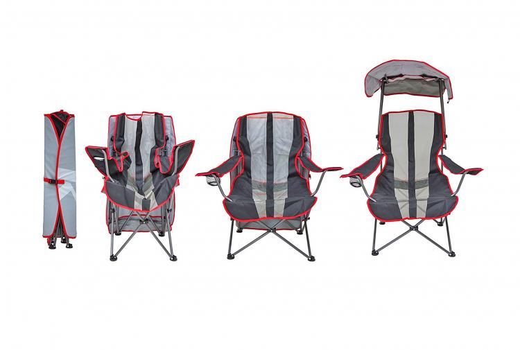 Canopy Chair Lawn Chair With A Sun Guard - Kelsyus pull-up canopy chair  sc 1 st  Odditymall & Canopy Chair: Lawn Chair With A Rain/Sun Guard
