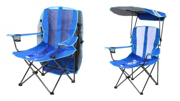 Canopy Chair Lawn Chair With A Sun Guard   Kelsyus Pull Up Canopy Chair
