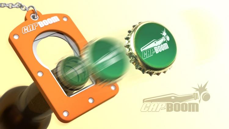Capboom Bottle Cap Launcher - Launch beer bottle caps like a champagne cork