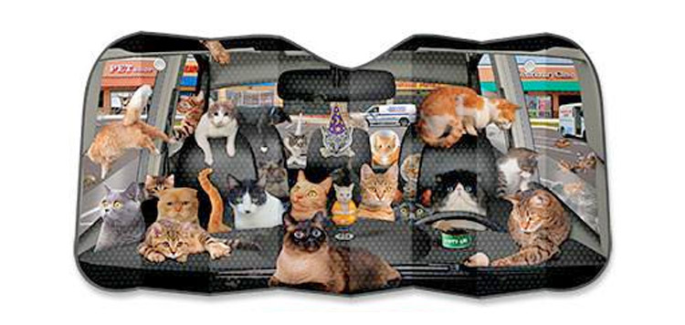 Car Full Of Cats Car Windshield Sunshade