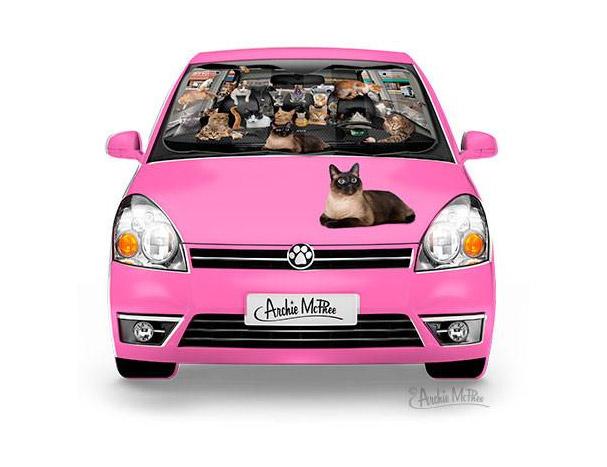 Car Full Of Cats Car Windshield Sunshade 29037d75c04
