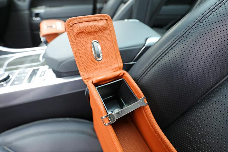 Car Seat Storage Pockets - Pocket between car seat and center console to store items, drinks, and coins