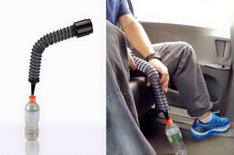 Urinate In Car Aid Extendable Water Bottle Hose - The Car Pool pee tube