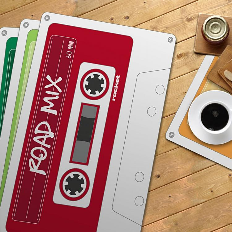Cassette Tape Table Placemats