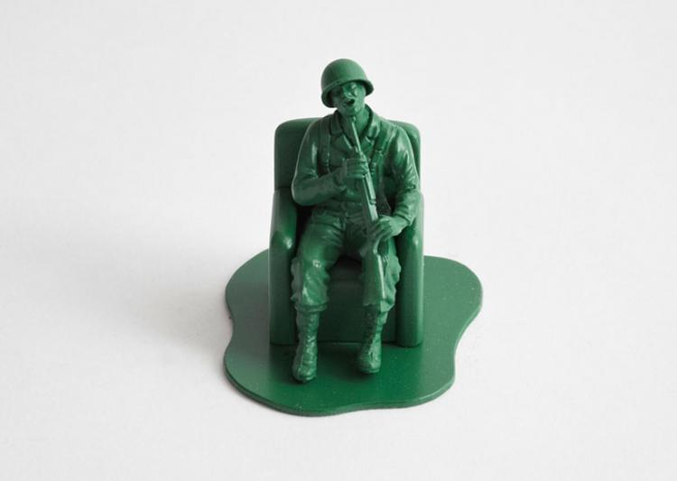 Realistic Little Green Army Men - Shotgun To Mouth Suicide