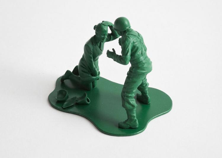 Realistic Little Green Army Men - Domestic Abuse