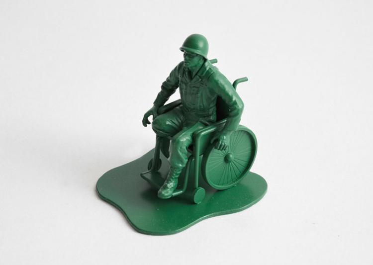 Realistic Little Green Army Men - Amputated Leg Wheelchair