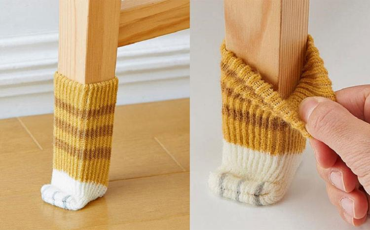 Cat Paw Chair Socks Protect Your Floors From Getting Scratched