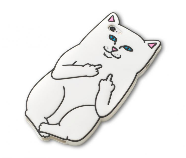 Lord Nermal iPhone Case - Cat Flicking You Off iPhone Case