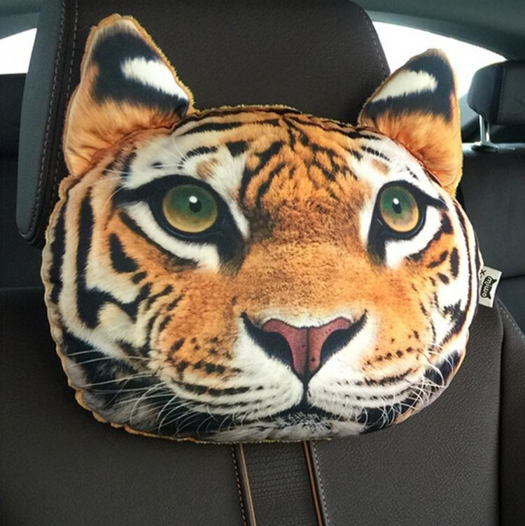 Tiger Headrest Pillows For Your Car