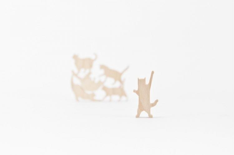 Cat Jenga - Wooden Cat Stacking Game