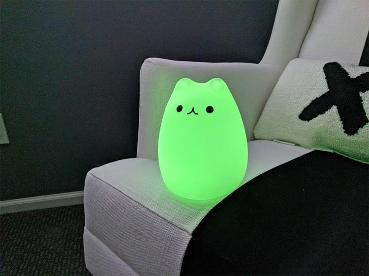 Cat Night-Light Tap The Kitty To Turn It On/Off - Cat Tap Lamp