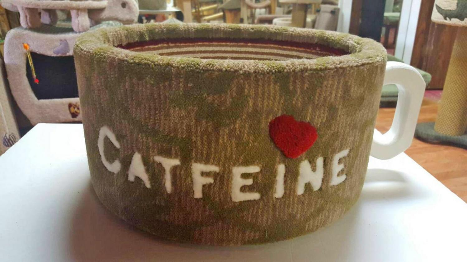 Catfeine Coffee Mug Shaped Cat Bed - Caffeine Cat Bed