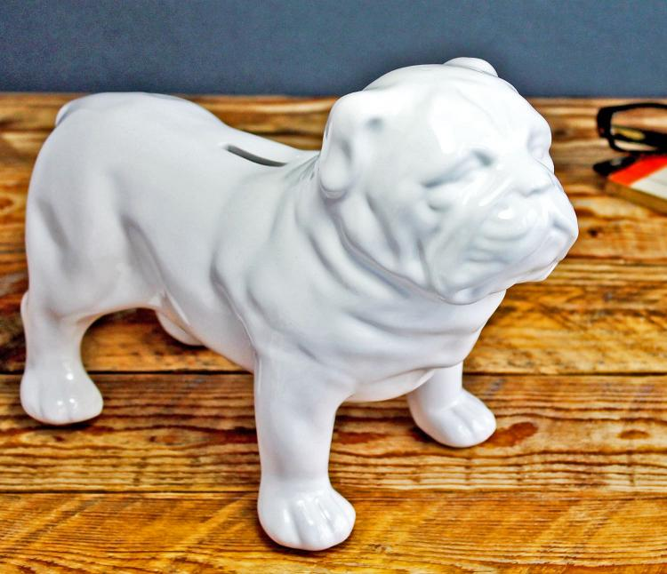 Ceramic Guard Dog Money Box