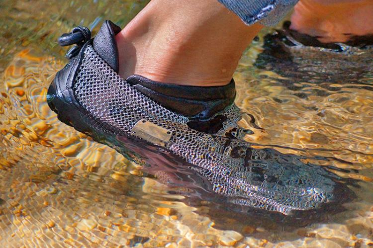 Chainmail Shoes - Chain link shoes - Paleos Metal barefoot hiking shoes