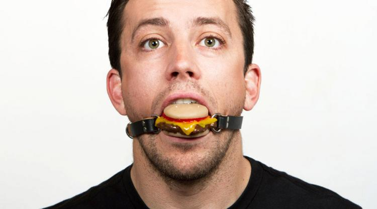Cheeseburger Ball Gag - Food Sex Toy