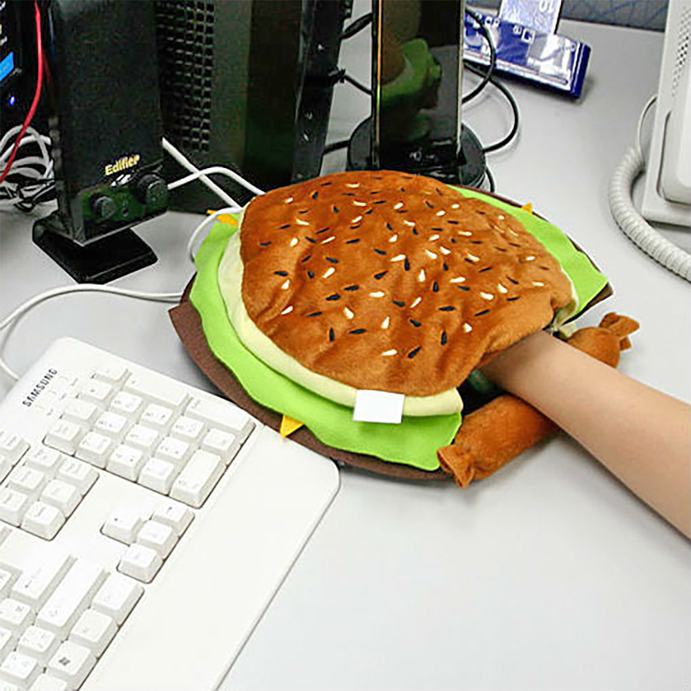 Cheeseburger Heated Mouse Pad Hand Warmer
