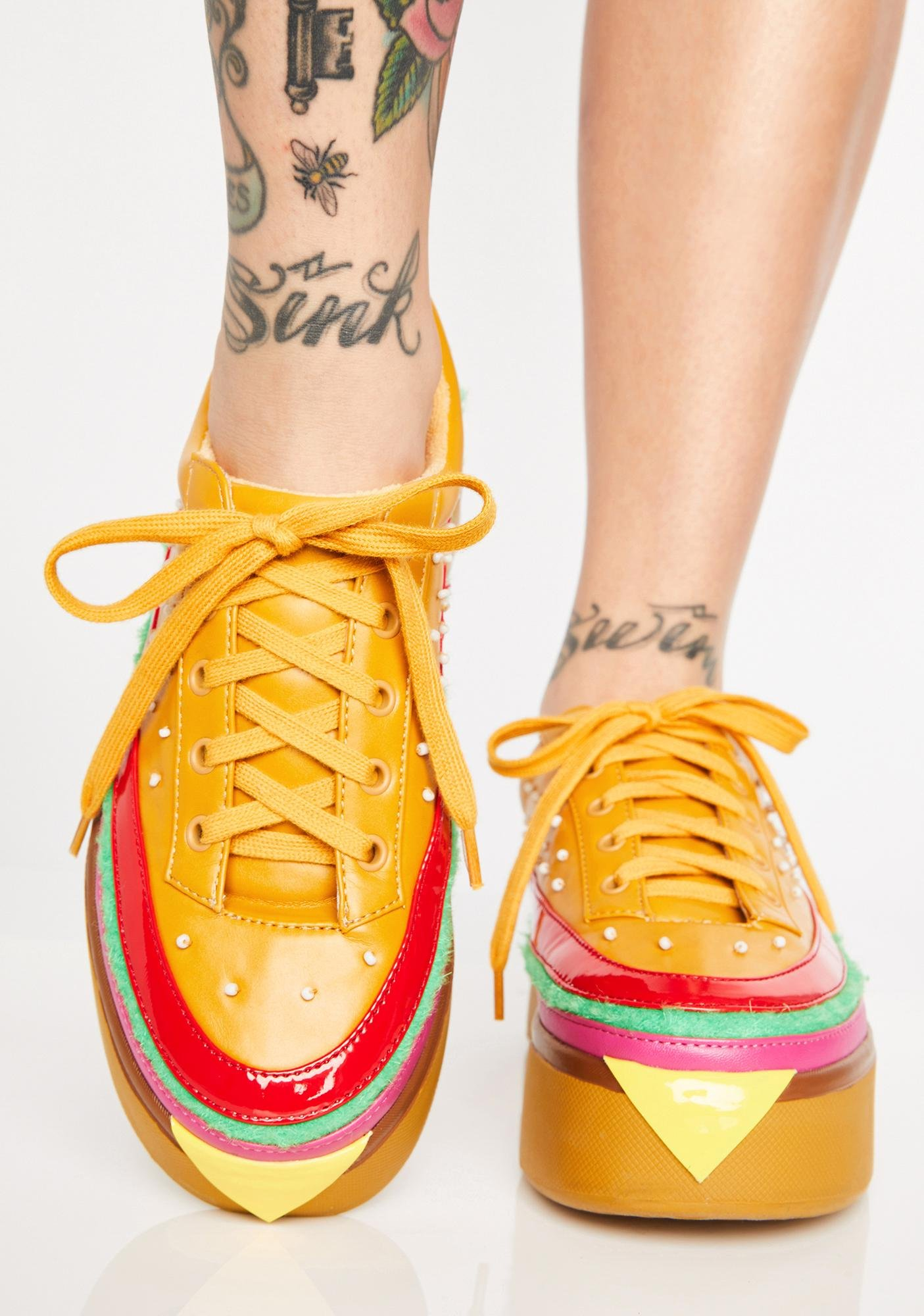 Cheeseburger Shoes - EXTRA CHEESE PLZ BURGER SNEAKERS