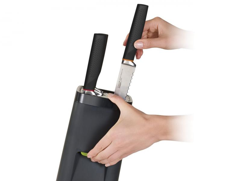 Joseph Joseph LockBlock - Child-Proof knife block requires a safety button to release knives - adult-sized hands required to open knife block